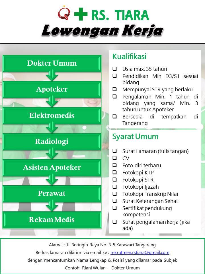 Lowongan Kerja Rs Tiara Tangerang Teknologi Elektro Medis